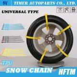 Пластмасса с колесом сплава приковывает кабели снежка автошины Snowchains для автомобилей