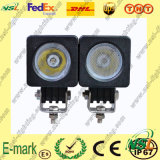 Vente chaude ! ! lumière de travail de 10W LED, lumière de travail de 850lm LED, 12V lumière de travail de C.C LED pour des camions