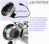 24V 120rpm Motor ligero del eje de la silla de ruedas sin cepillo de la energía con la palanca del regulador y de la palanca de mando