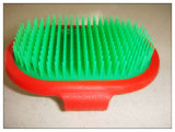 Pet plástico Massage Grooming Brush para Dogs