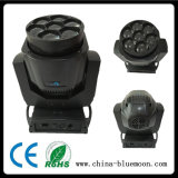 7X15W 4in1 RGBW Mini LED Bee Eye Zoom Wash Moving Head Light