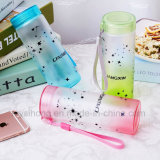 bottiglia di acqua di vetro glassato 350ml