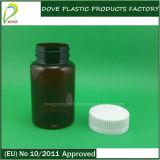 Botella plástica del ámbar de la píldora del animal doméstico de 120ml