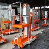 Elektrisch Lucht Werkend Opheffend Platform Één Platform van de Lift van de Legering van het Aluminium van de Mast het Hydraulische