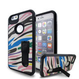 iPhoneのためのカラーPattern Hard Hybrid Cell Phone Case