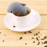 Чай Infuser силикона качества еды формы акулы инструмента кухни милый