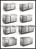 ステンレス鋼のカウンターかステンレス鋼冷却装置キャビネット