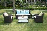 庭のラウンジのソファーが付いている深い灰色の屋外の余暇の家具