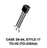 電子部品のアンプのトランジスターNPNケイ素P2n2222A