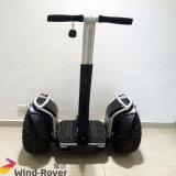 Auto esperto da grande potência da maçaroqueira do vento que balança a bicicleta elétrica da sujeira