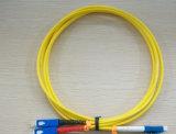 LC Duplex Simplex Fiber Patch Cords/G657A1 Patch Cordsへの過去3D Test Highquality Telecommunication Level Sc