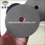 돌 유리를 위한 손 광택기 거친 Electroplated 다이아몬드 닦는 패드