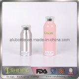 Bottiglia di alluminio vuota con la protezione della polvere di metallo