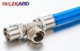 Messinginnengewinde-T-Stück mit Plastikring-/Pex-Al-Pex Rohr/Messingbefestigung