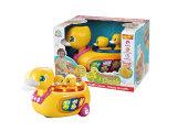 La bosse en plastique de report et vont les jouets intellectuels de bébé de canard (H0001251)