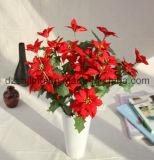 クリスマスおよびホーム装飾(SF15964)のための3つのカラーポインセチアの花