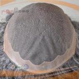 Toupee lleno del Mens del cordón de mano del color gris completo del trabajo