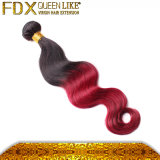 Fadianxiu Red und Black Ombre Hair Extensions brasilianisches Weft Hair