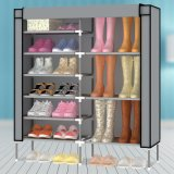 9-Tier novo Metal Frame Waterproof Cloth Shoe Cabinet (WS16-0046, para a mobília home)