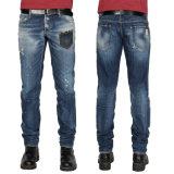 Jeans occasionnels d'hommes de coton de mode de qualité d'usine