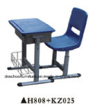 Mobiliário de mesa e cadeira para laboratório de plástico popular para escola