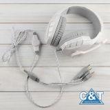 Écouteur stéréo d'écouteur d'écouteurs de jeu d'Au-dessus-Oreille