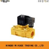 Válvula Eléctrica PU220-08 de Agua del Solenoide de Cuerpo de Cobre Amarillo