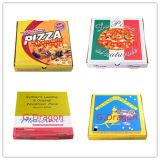 Euroart-dünnes Anzeigeinstrument-gewölbter Kraftpapier-Pizza-Kasten (CCB025)