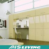 Het nieuwe Meubilair van de Kast van de Garderobe van de Slaapkamer van het Project van de Flat van het Ontwerp Houten (ais-W142)