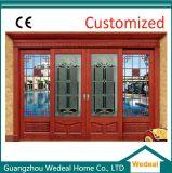 Feste hölzerne vordere Eintrag-Glastür für Landhaus