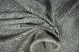 Tessuto grigio & bianco delle lane con Twiil