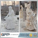 Figura occidentale intagliata personalizzata statua di stile della scultura del granito per la decorazione del giardino