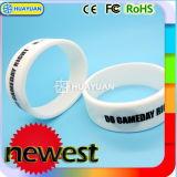 Wristband esperto clássico do silicone da identidade 13.56MHz MIFARE 1K RFID do fechamento de porta