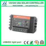 20A 12/24V Solar Charge Controller con CC Light Port (QWP-SC2024U)