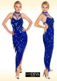 Faldas Sequined de la alineada latina de la danza de las señoras, modificadas para requisitos particulares