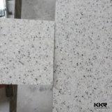 Superficie solida bianca del ghiacciaio di pietra artificiale della decorazione dell'acquazzone