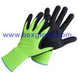 вкладыш нейлона 15gauge/Spandex, покрытие нитрила, Микро--Пена, многоточия на перчатках безопасности ладони