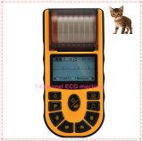 Electrocardiógrafo à mão veterinário da máquina de Digitas ECG da única canaleta com relatório da medida para o veterinário