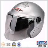 De Zilveren Open Motor van het Gezicht/Helm de van uitstekende kwaliteit van de Motorfiets/van de Autoped (OP229)
