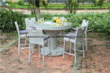Rattan esterno Round Bar Table e Rattan Bar Chairs