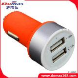 Caricatore dell'automobile glassato adattatore del USB del dispositivo 2 del telefono mobile doppio
