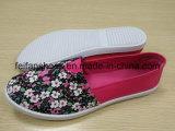 Zapatos de lona planos del calzado de las mujeres con buena calidad