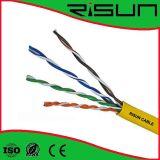 El mejor cable de LAN de la calidad Cat5e con el Cu sólido, CCA, CCS