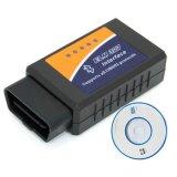 Version d'Elm327 Bluetooth 1.5 OBD2/Obdii pour le scanner de code androïde de véhicule de couple