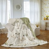 Taihuの雪の絹の高品質OEM Oeko-Tex 100の寝具の夏の投球毛布