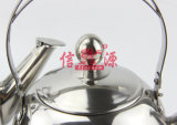 3PC Stainless Steel Round Steel Handle Tea Pot (FT-2924)