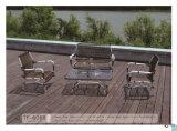 Insieme esterno di tessitura del sofà del balcone del rattan del patio