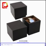Touch morbido Paper Single Watch Display Package Box con Black Velvet Coated