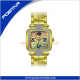 Cadeau de luxe de montre-bracelet de cadran carré pour Movt suisse unisexe