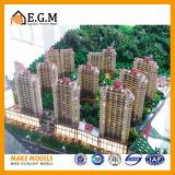 주거 아파트의 부동산 모형 또는 프로젝트 건물 모형 또는 건축에게 모형에게 만들거나 건축 모델 구성 모형 제작자 또는 모형은 주문을 받아서 만든다